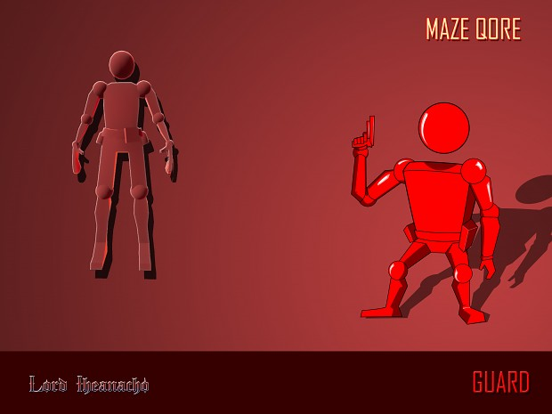 Maze Qore Characters - The Guard