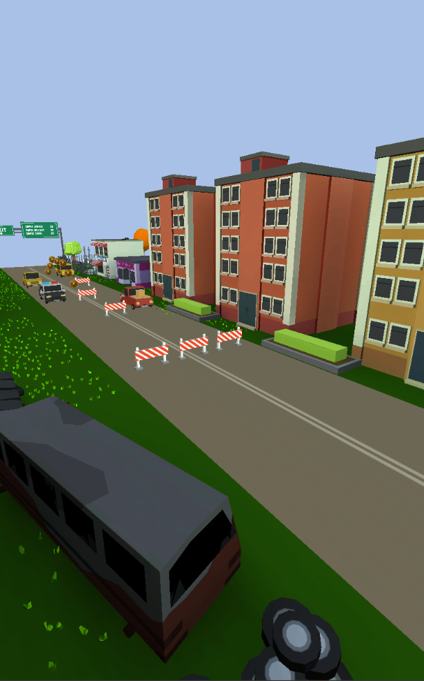 This is a picture of the second variant of the town that you will encounter during your run.