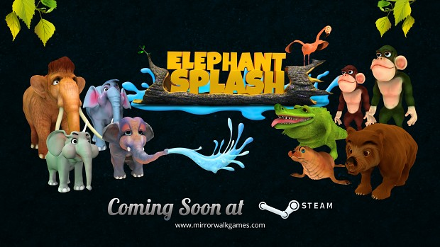 Elephant Splash Wallpaper 01