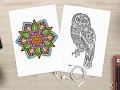 Coloring Book for Adults - Detailed Coloring Pages