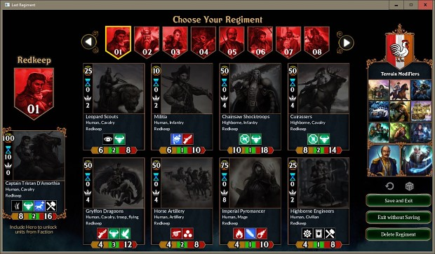 Choose Your Regiment (Deck Builder)