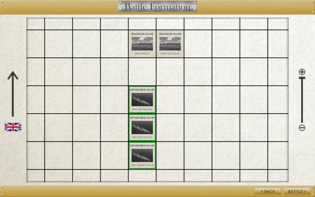 Custom battle formation screen