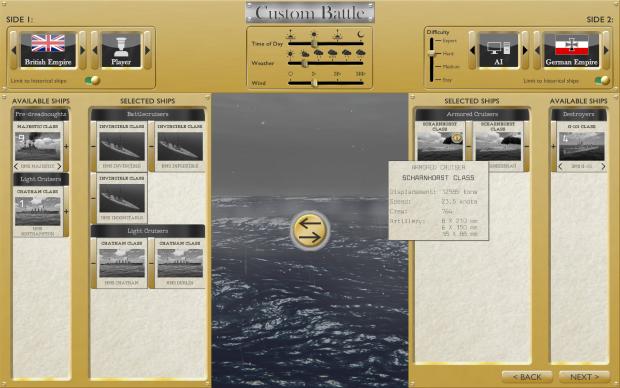Custom battle screen