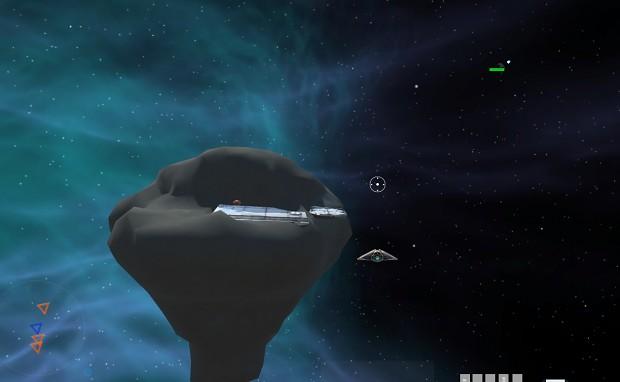warped space space island