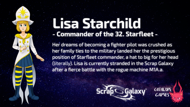Scrap Galaxy - Character Bio - Lisa Starchild