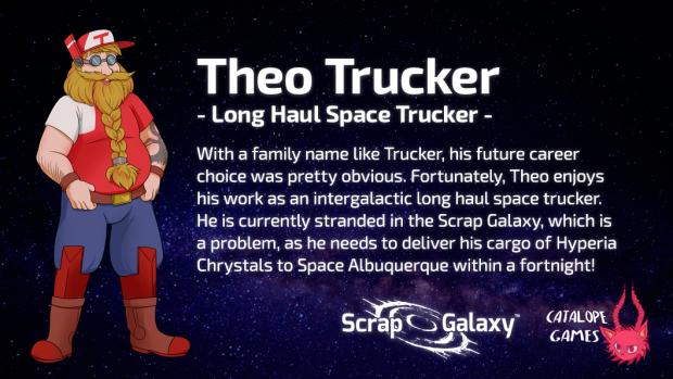 Scrap Galaxy - Character Bio - Theo Trucker
