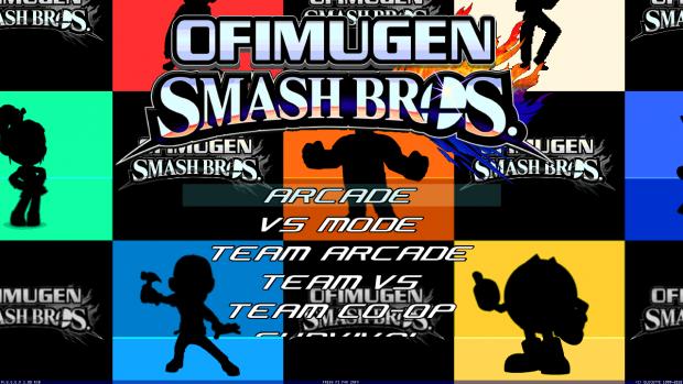 Ofimugen Smash Bros.- Main Menu