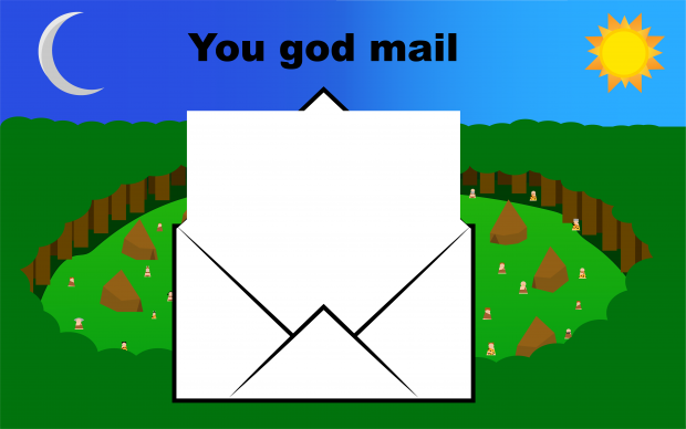 God game background with mail 5