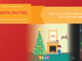 Santa on Fire
