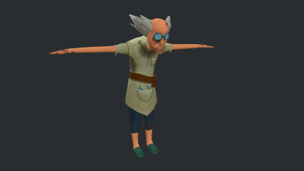 shop keeper T pose textured