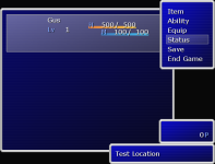 Menu system layout