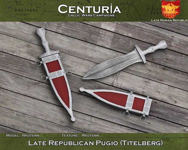 Late Republican pugio (Titelberg) - Roman dagger