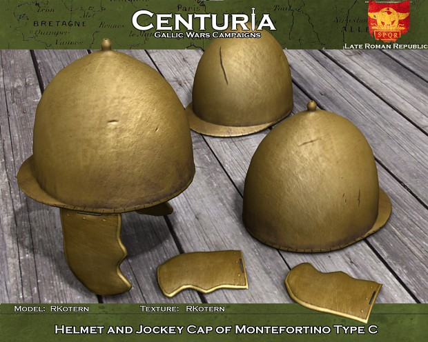 Helmet and Jockey Cap of Montefortino Type C