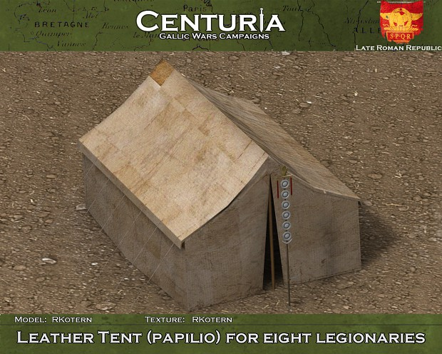 The eight-man legionary tent