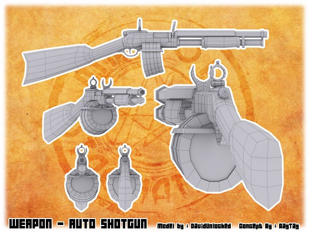 Shotgun Upraded WIP model