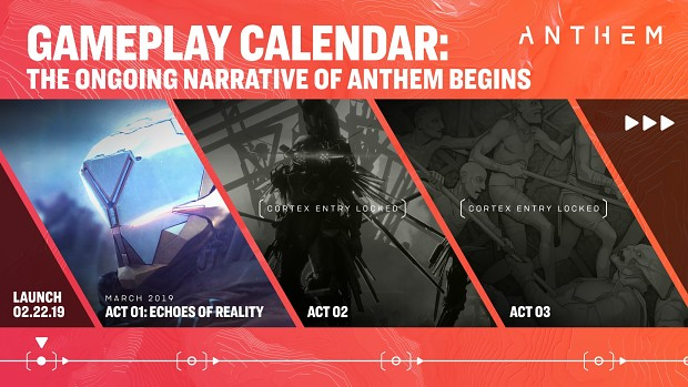 Anthem Gameplay Calender