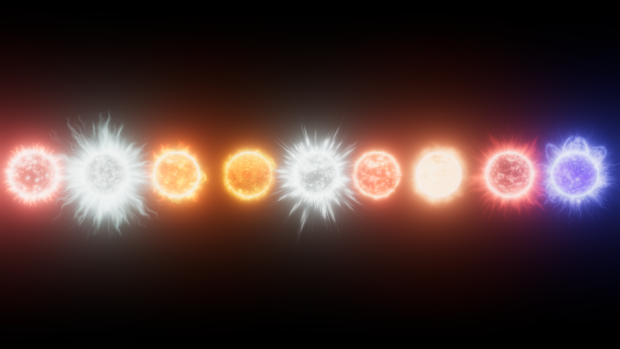 Star Line-Up in Linear Color space