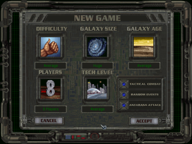 The New Game Window