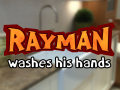 Rayman washes his hands