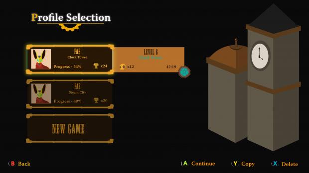 UI SteamChain profile selection