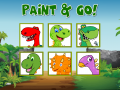 Paint and Go - Coloring of Dinosaurs with Cartoons