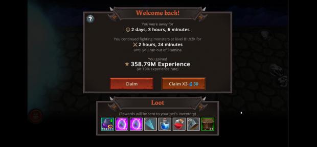 Offline rewards
