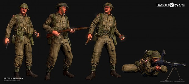 Operation Overlord British Character models
