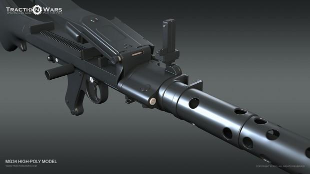 MG34 - Hipoly Model