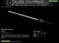 Dystopia Katana sword profile