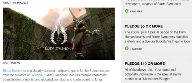 Kickstarter screenshots