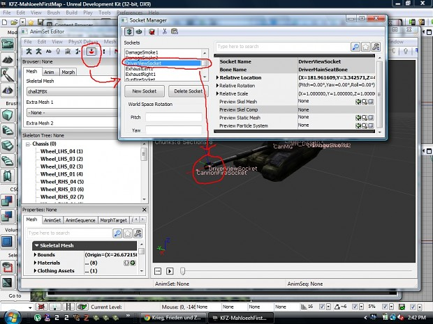 UDK Editor Socket Manager Adjustment