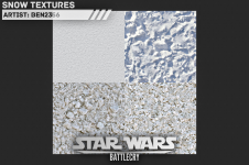Snow textures for Hoth