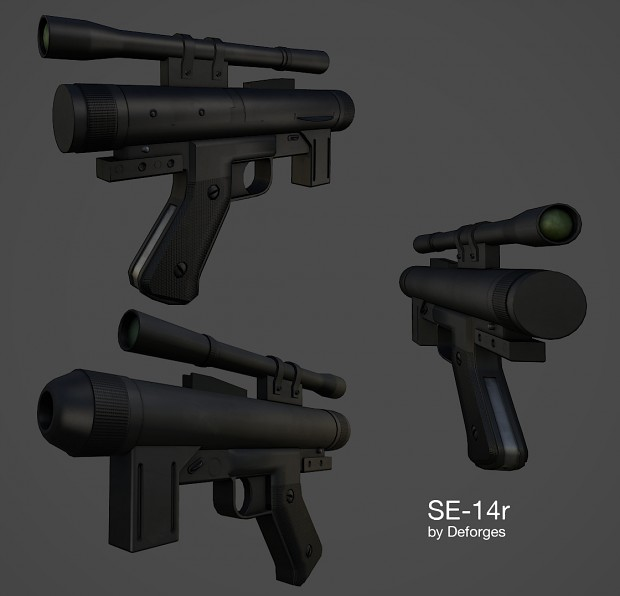 SE-14r blaster model - finished