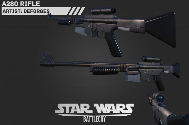 A280 rifle - new texture