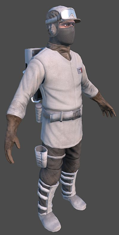 Rebel trooper from the front (Hoth) - UPDATED
