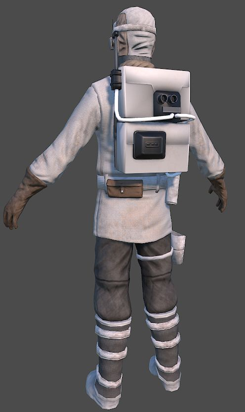 Rebel trooper from behind (Hoth) - UPDATED