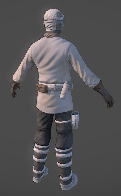 Rebel trooper from behind (Hoth)