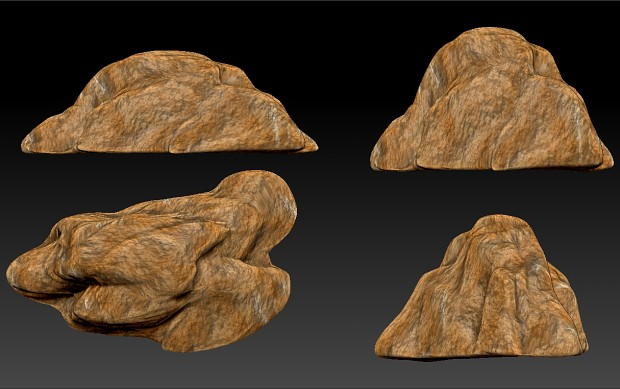 New rocks modeled in Zbrush by MacGivre