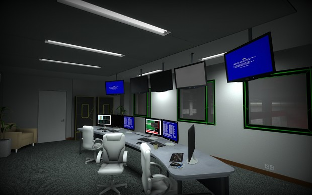 Water treatment plant control room