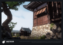 In-game Screenshot 1 - Kamioka Castle scene