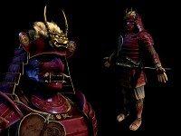 The finished Samurai 3D model
