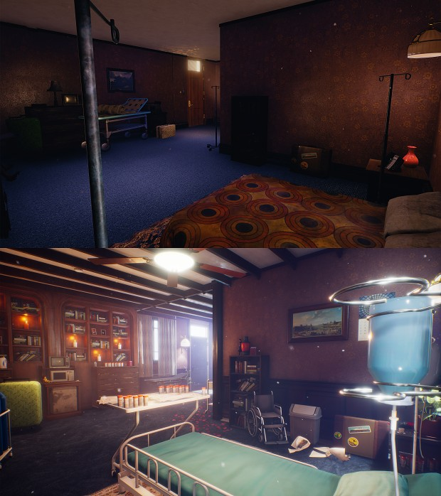 Then and Now: Starting Room