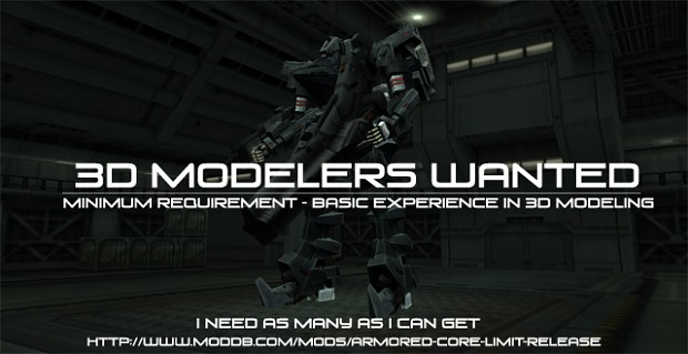 3d modelers needed!