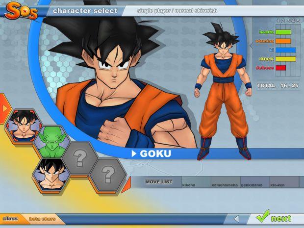 NeD's Character menu