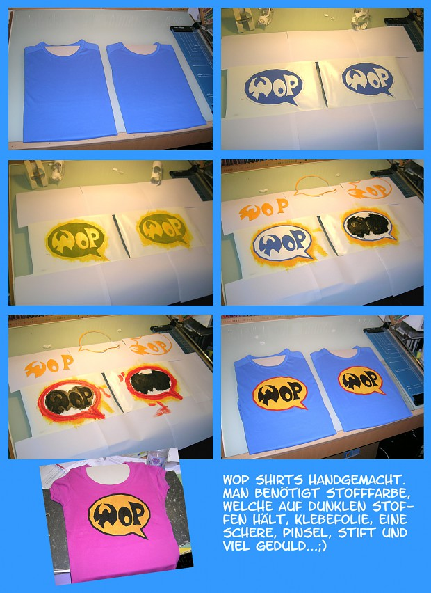 hand made WoP shirts