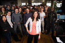 Jade Raymond and Assassin's Creed team
