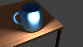 a cup (made in blender)