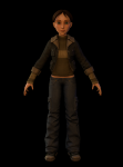 Girl character low poly version