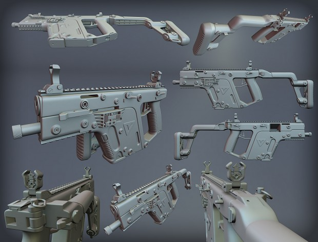 KRISS Vector high poly WIP