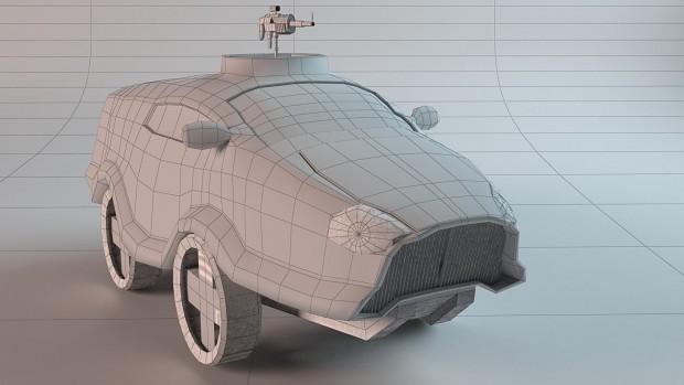 Military vehicle hero render